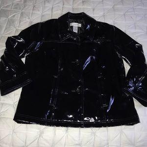 SAG HARBOR (8) BLACK GARBAGE BAG SHINE BLAZER EUC